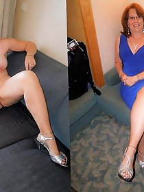 Ugly mature damsel posing totally naked on pics