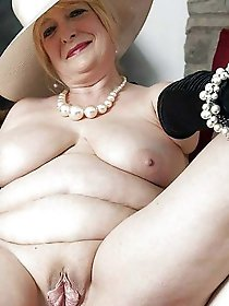 Charming older gilfs posing undressed on camera